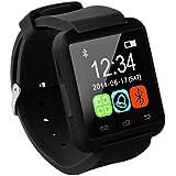 Tera® U8 Bluetooth スマート ウォッチ リストバンド 時計 スポーツウォッチ Smart Watch タッチパネル 音楽プレーヤー 通話 着信 歩数計 多機能 iPhone Android スマートフォン対応