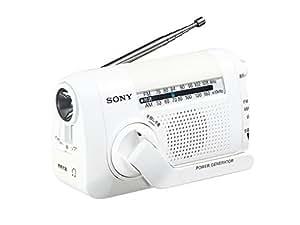 ソニー SONY ポータブルラジオ FM/AM/ワイドFM対応 手回し充電対応 ホワイト ICF-B09 W