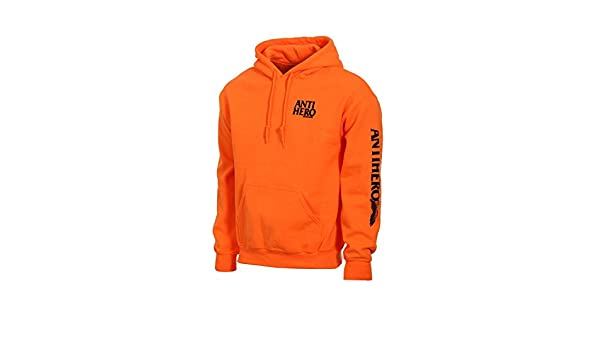 7b4d5999bb19 Amazon | (アンタイヒーロー) ANTI HERO WING HERO PULLOVER HOOD [XL] SAFETY ORANGE |  トレーナー・パーカー 通販
