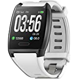 HalfSun Fitness Tracker, Activity Tracker Fitness Watch with Heart Rate Monitor, Blood Pressure Monitor, IP67 Waterproof Smar
