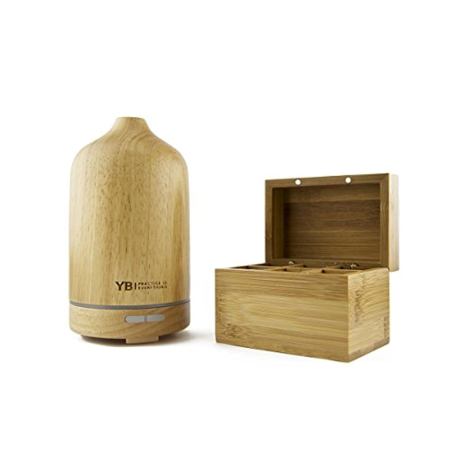 まっすぐリル組み立てるYOGABODYエッセンシャルオイルディフューザー&加湿器[公式]木製 アロマセラピー用 3~6時間 ミスト、自動オフプラスライト。