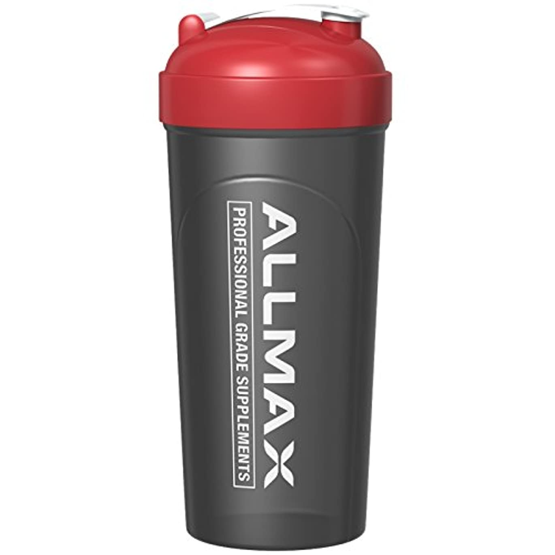 権限を与える芸術的七面鳥ALLMAX Nutrition, ボルテックスミキサー付き漏れ防止シェーカーボトル, 25 oz (700 ml)