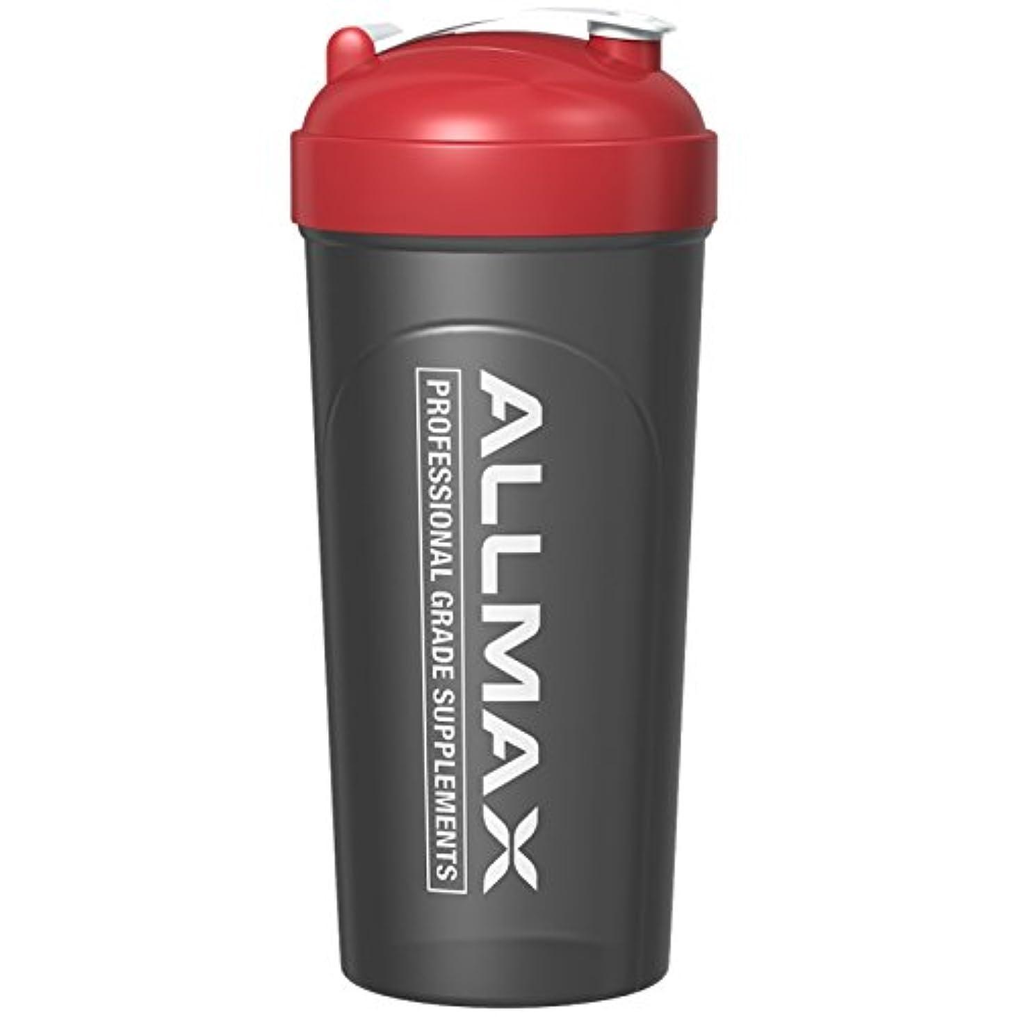 オーナー野心夜間ALLMAX Nutrition, ボルテックスミキサー付き漏れ防止シェーカーボトル, 25 oz (700 ml)