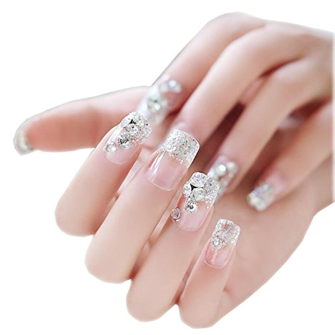 競合他社選手応用変更ネイルアートデカールのネイルは一時的にダイヤモンドで透明に包み込みます