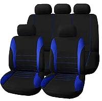 ユニバーサル5シート用カーシート保護パッド - 自動車、SUV、トラックに適したマイクロファイバーシートプロテクター、吸水性、滑り止め性、洗濯可能,Blue