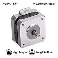 MOONS' NEMA17 ステッピングモータ 3Dプリンター 0.2Nm(28oz-in)1A2相 1.8°ステッピングモータ 25.3mm(1in.) スムーズステッピングモータ (ステッピングモータ用リード線00723付き 型番MS17HD5P4100)
