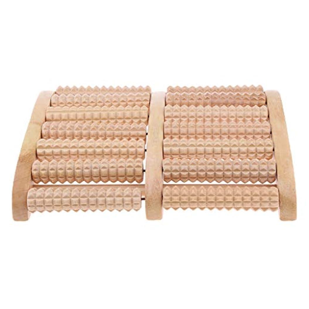 真鍮支店マントウッドローラーマッサージャー ツボ押し 足底マッサージ 痛み緩和 リラックス 7列 足底筋膜炎対応