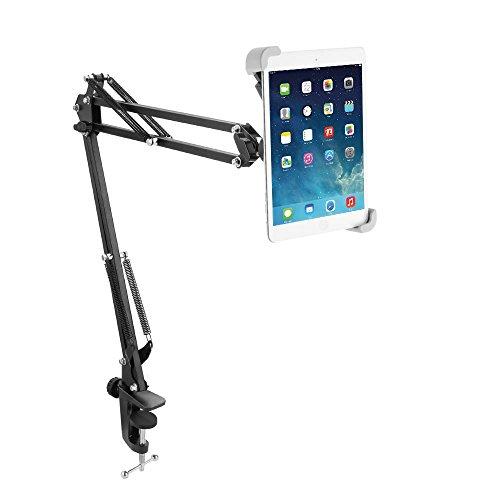 Miuko タブレットスタンド iPadスタンド アームスタンド フレキシブルアーム 簡単取り付け 7~10.5インチまで対応