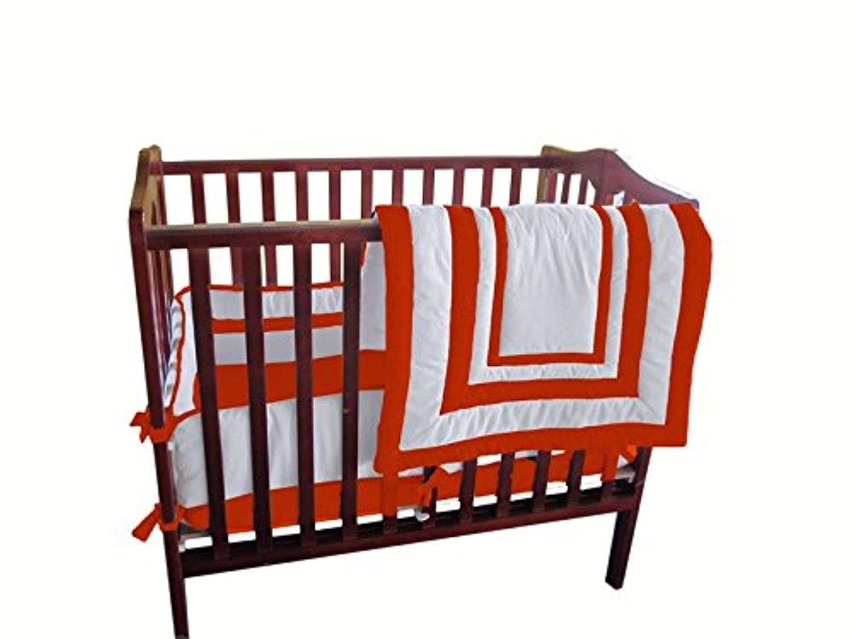 Baby Doll Bedding Modern Hotel Style Mini Crib/ Port-a-Crib Bedding Set, Orange by BabyDoll Bedding