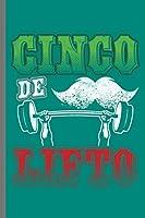 "Cinco de Lifto: Cinco De Mayo Fiesta notebooks gift (6""x9"") Dot Grid notebook"