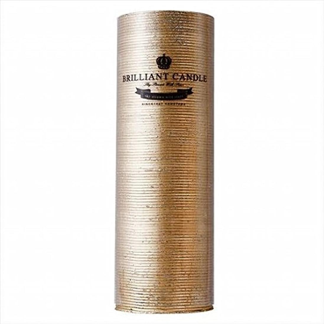 変更電話に出るストライプkameyama candle(カメヤマキャンドル) ブリリアントピラー2×6 「 ゴールド 」(A9292200GO)