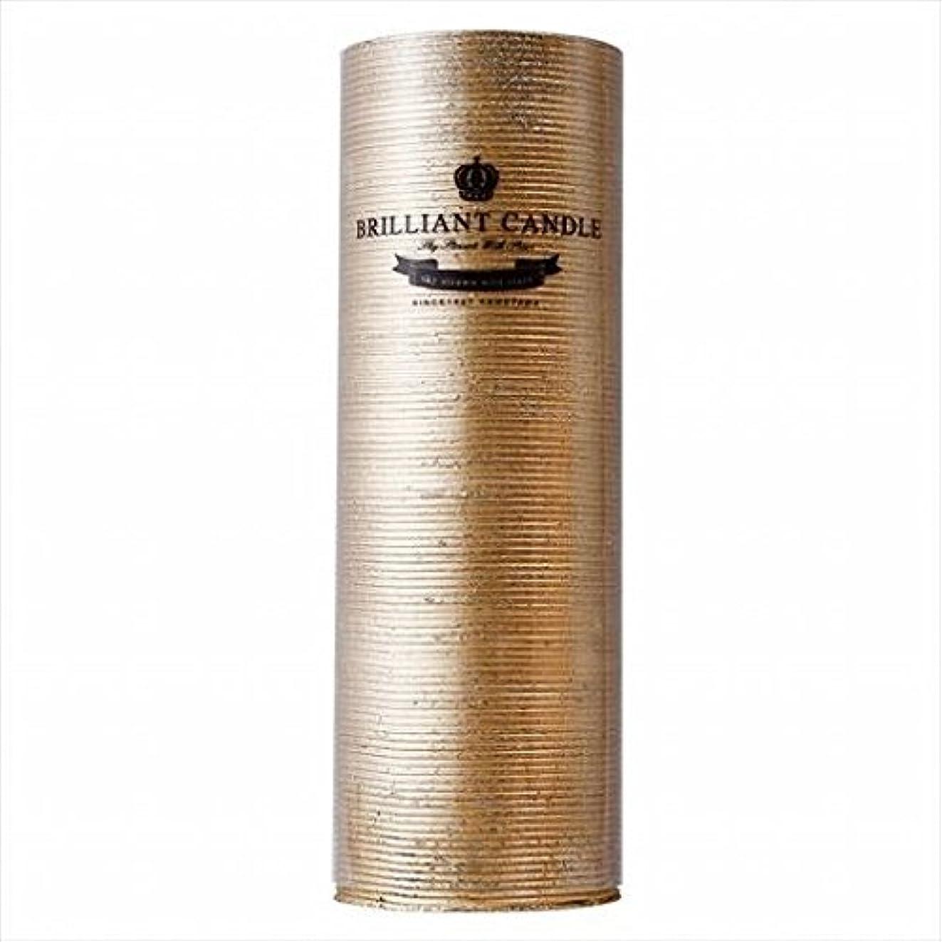 孤独なフラスコ松明kameyama candle(カメヤマキャンドル) ブリリアントピラー2×6 「 ゴールド 」(A9292200GO)
