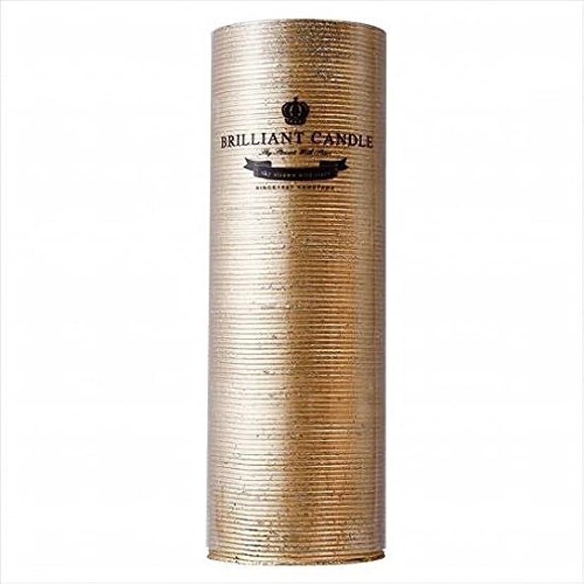 名目上の狂気葉を集めるkameyama candle(カメヤマキャンドル) ブリリアントピラー2×6 「 ゴールド 」(A9292200GO)