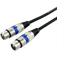 マイクケーブル XLRケーブル XLR(メス)- XLR(メス) オーディオケーブル XLR コネクタ 3ピン 延長ケーブル 高品質 (1m)