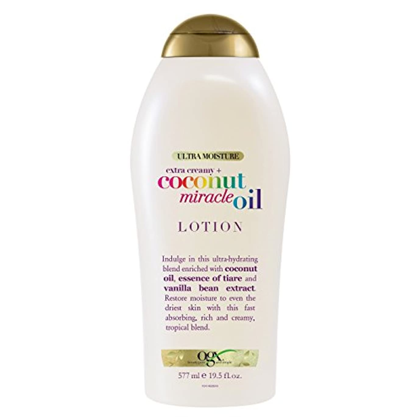 OGX ミラクル ココナッツ オイル ボディローション Body Lotion Coconut Oil Miracle 19.5 Ounce (577ml) [並行輸入品]