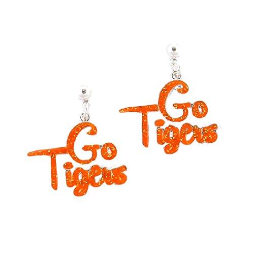 "Clemson Tigers "" Go Tigers ""スローガンイヤリング"