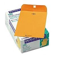 品質公園Clasp封筒、61/ 2x 91/ 2、28lb、ブラウンクラフト、100/ボックス