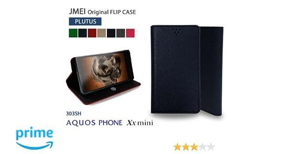73ddab7c1e Amazon | AQUOS PHONE Xx mini 303SH softbank 対応 手帳型 レザー フリップケース PLUTUS プルートス  ネイビーブルー(アクオスフォン ダブルエックス ミニ 303sh ...