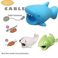 Dirance キュートな動物クジラケーブル3本セット バイトチャンパー チューワーズ電話ライトニングケーブルコード iPhoneのアクセサリーを保護 Regular Dirance