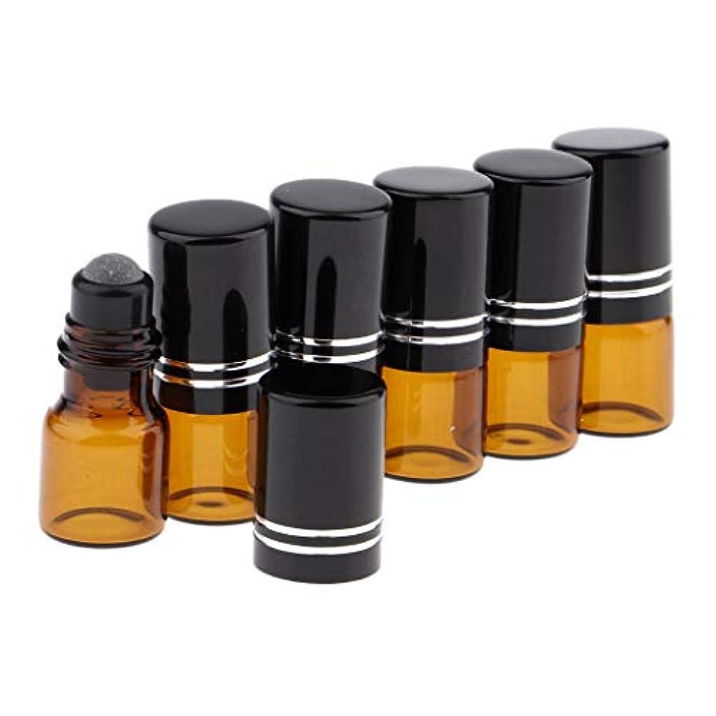 司令官支出しなければならないCUTICATE ロールオンボトル ガラス容器 化粧品ボトル 2ml 詰め替え 精油 液体 小分け用 保存 6個 全3色 - 黒いふた