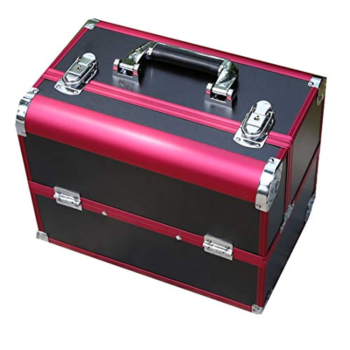数値熱狂的な引き出しコスメボックス 大容量 プロ用 鍵 2段 四つのトレイ アルミ 化粧品収納ボックス 化粧入れ 32*21*26.5cm メイクボックス 卓上収納 旅行 メイク収納 収納力抜群 小物収納 アクセサリー ブラシスタンド ツールボックス コスメ収納ボックス 持ち運び便利 収納ケース おしゃれ 収納バッグ 母への誕生日プレゼント