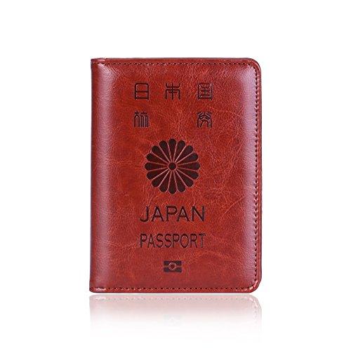 パスポートケース スキミング防止 海外旅行用ブラック カードケース 便利グッズ (ブラウン)