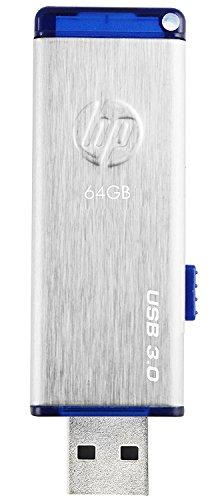 HP USBメモリ 64GB USB 3.0 伸縮式、ブラシテクスチャ、ステンレス鋼のフラッシュドライブ x730w HPFD730W-64