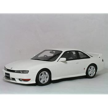 K`s 日産 (S14) OttO mobile 1/18 パールホワイト シルビア 後期型