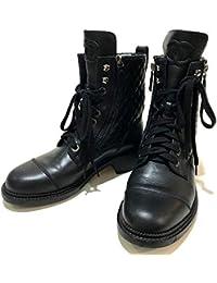 4dd439dad086 (シャネル)CHANEL G33769 X51480 マトラッセ CC ココマーク ショートブーツ ブーツ レザー レディース 中古