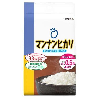 大塚食品 マンナンヒカリ スティックタイプ 152g(38g×4袋) 10コ入り