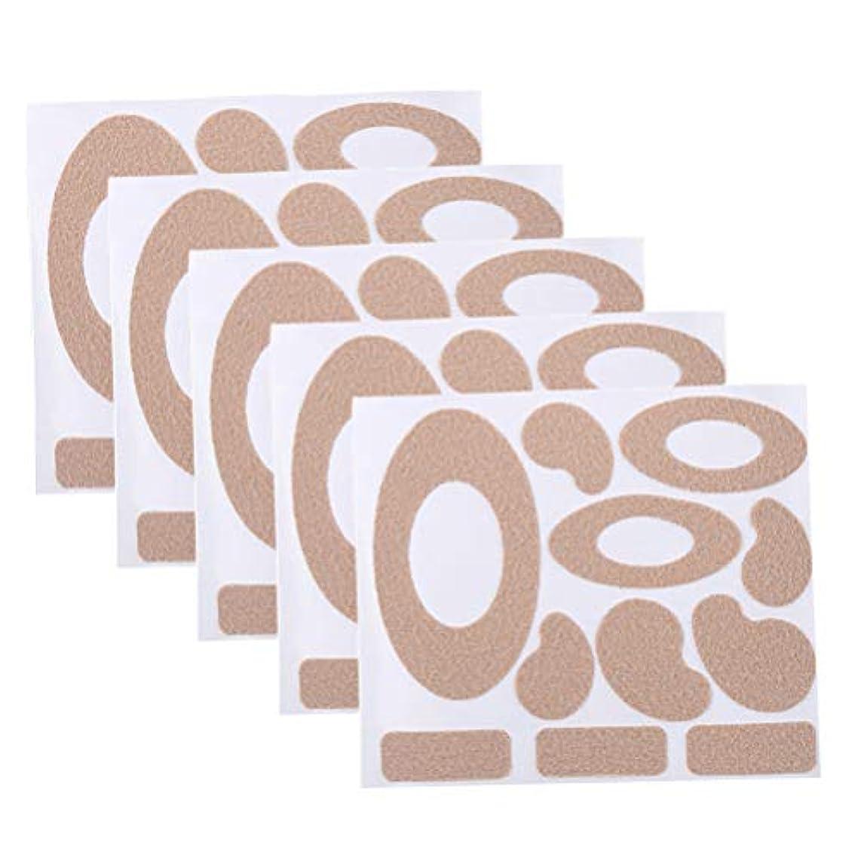 世界記録のギネスブック準備必須Healifty モールスキンテープフランネル粘着パッド耐摩耗性ヒールステッカーブリスタードレッシング防止パッド足用10枚