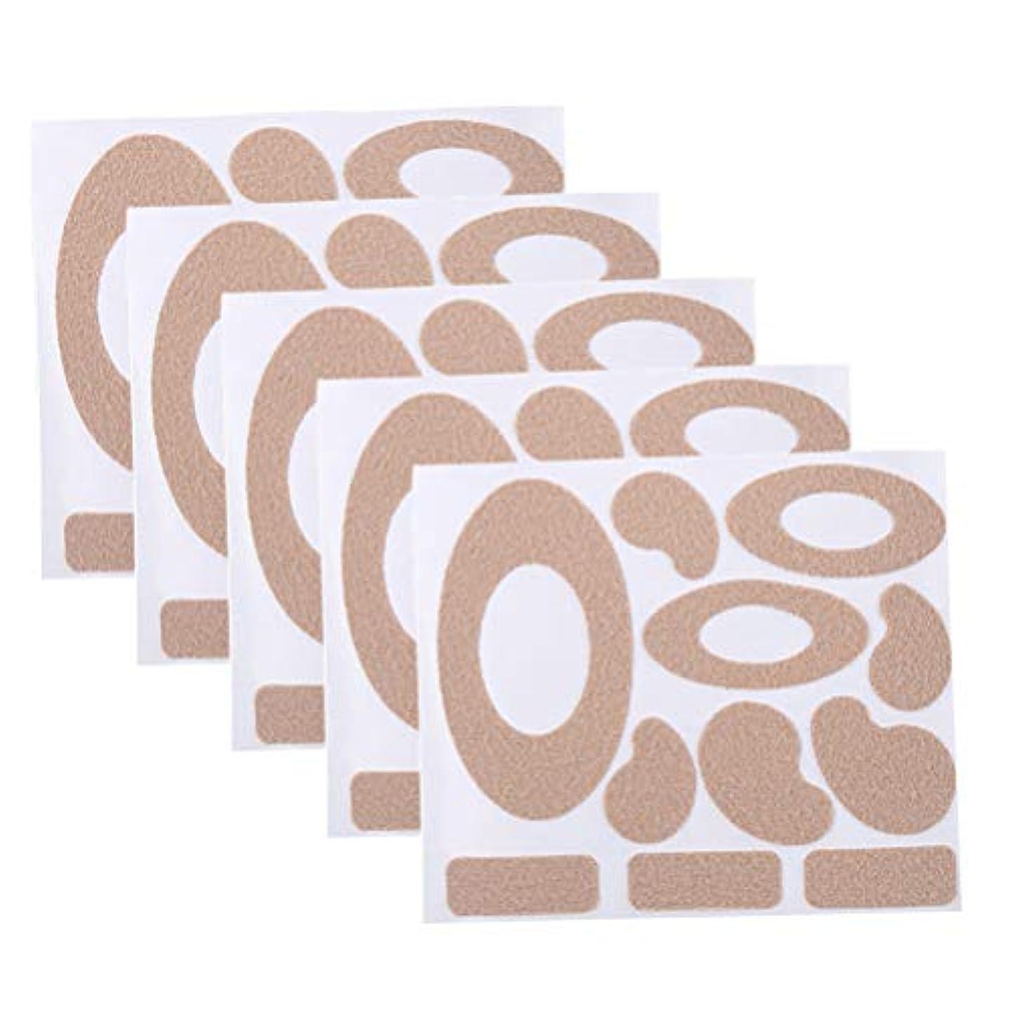 退屈させる副詞建築Healifty モールスキンテープフランネル粘着パッド耐摩耗性ヒールステッカーブリスタードレッシング防止パッド足用10枚
