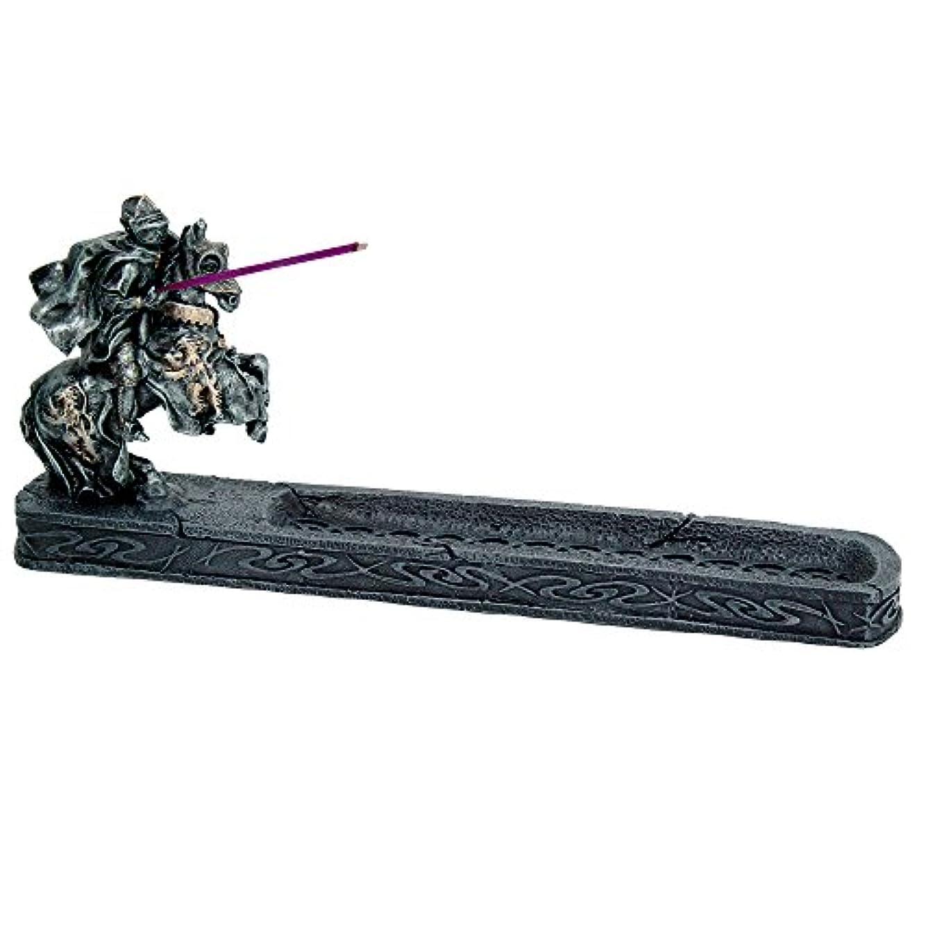 露骨なパーセント印象的ナイトのChivalry Stick Incense Holder Jousting Knight Incense Burner Medieval Times Collectible 11.25インチL