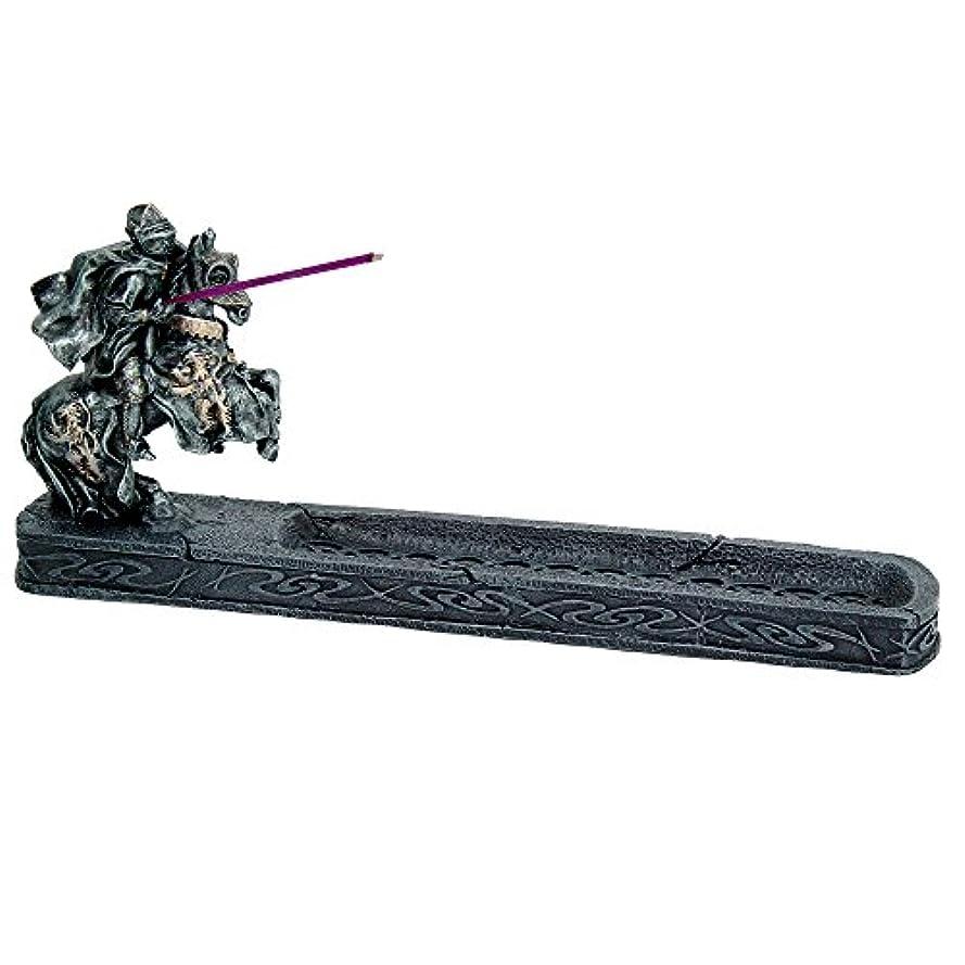 定常バーマド外交問題ナイトのChivalry Stick Incense Holder Jousting Knight Incense Burner Medieval Times Collectible 11.25インチL