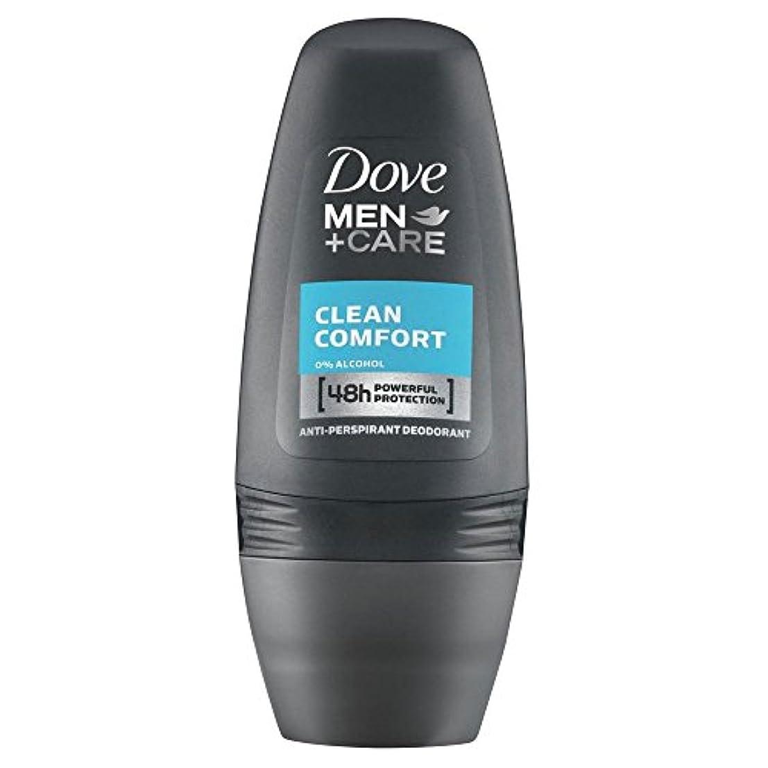 勇気代理人黙Dove Men + Care Antiperspirant Deodorant - Clean Comfort Roll-On (50ml) クリーンコンフォートロールオン( 50ミリリットル) - 鳩の男性は制汗デオドラントケア...