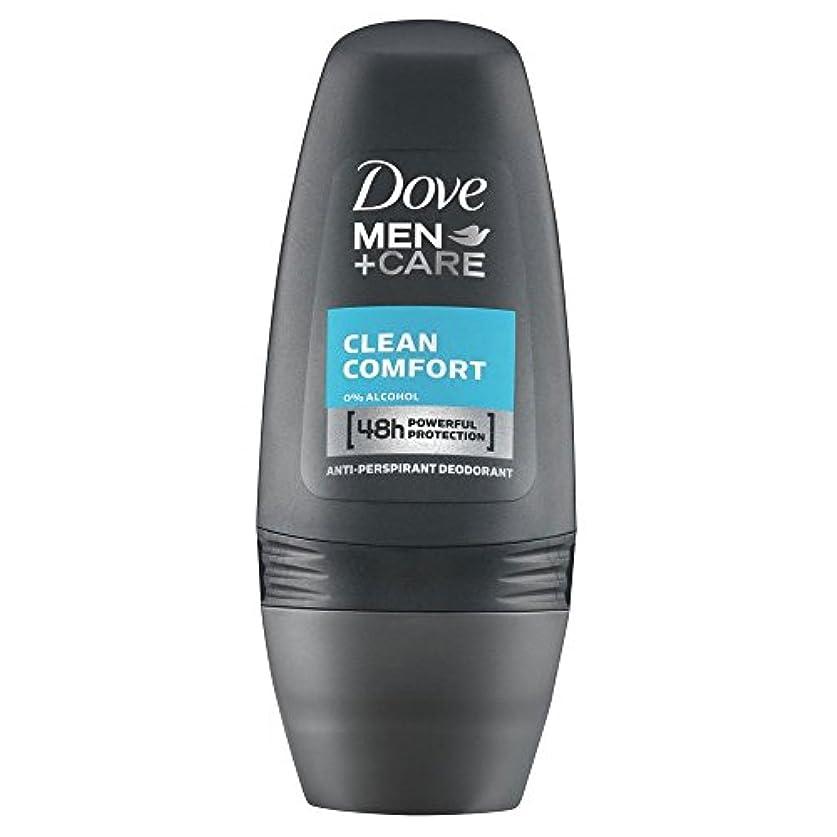 勉強する愚かコストDove Men + Care Antiperspirant Deodorant - Clean Comfort Roll-On (50ml) クリーンコンフォートロールオン( 50ミリリットル) - 鳩の男性は制汗デオドラントケア...