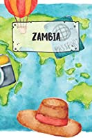 Zambia: Ruled Travel Diary Notebook or Journey  Journal - Lined Trip Pocketbook for Men and Women with Lines