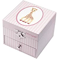 TROUSSELIER - Sophie The Giraffe - Photoluminescent Musical Cube Box - Glow in The Dark - Pink