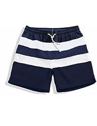 水陸両用 水着 メンズ ボーダー柄 海パン サーフパンツ ポケット付き 海水パンツ ショートパンツ マリンスポーツ 大きいサイズ