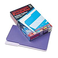 Interior File Folders, 1/3 Cut Top Tab, Legal, Violet, 100/Box (並行輸入品)