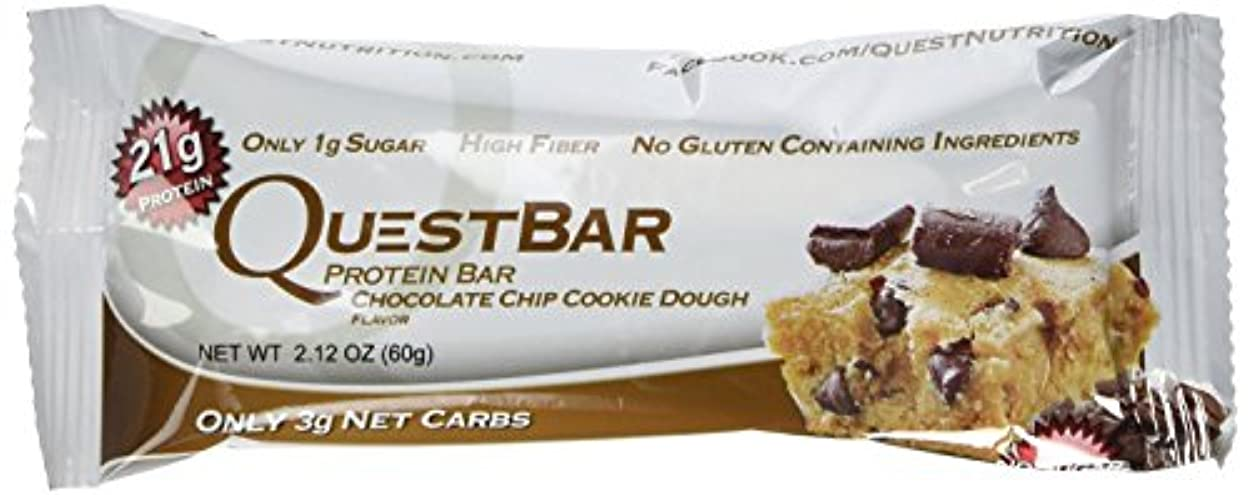 材料媒染剤真剣にQuest Nutrition プロテインバー チョコチップクッキー生地 Chocolate Chip Cookie Dough 24本セット 【並行輸入品】