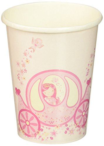 Ginger Ray Princess Pink Party Paper Cups - Prince...