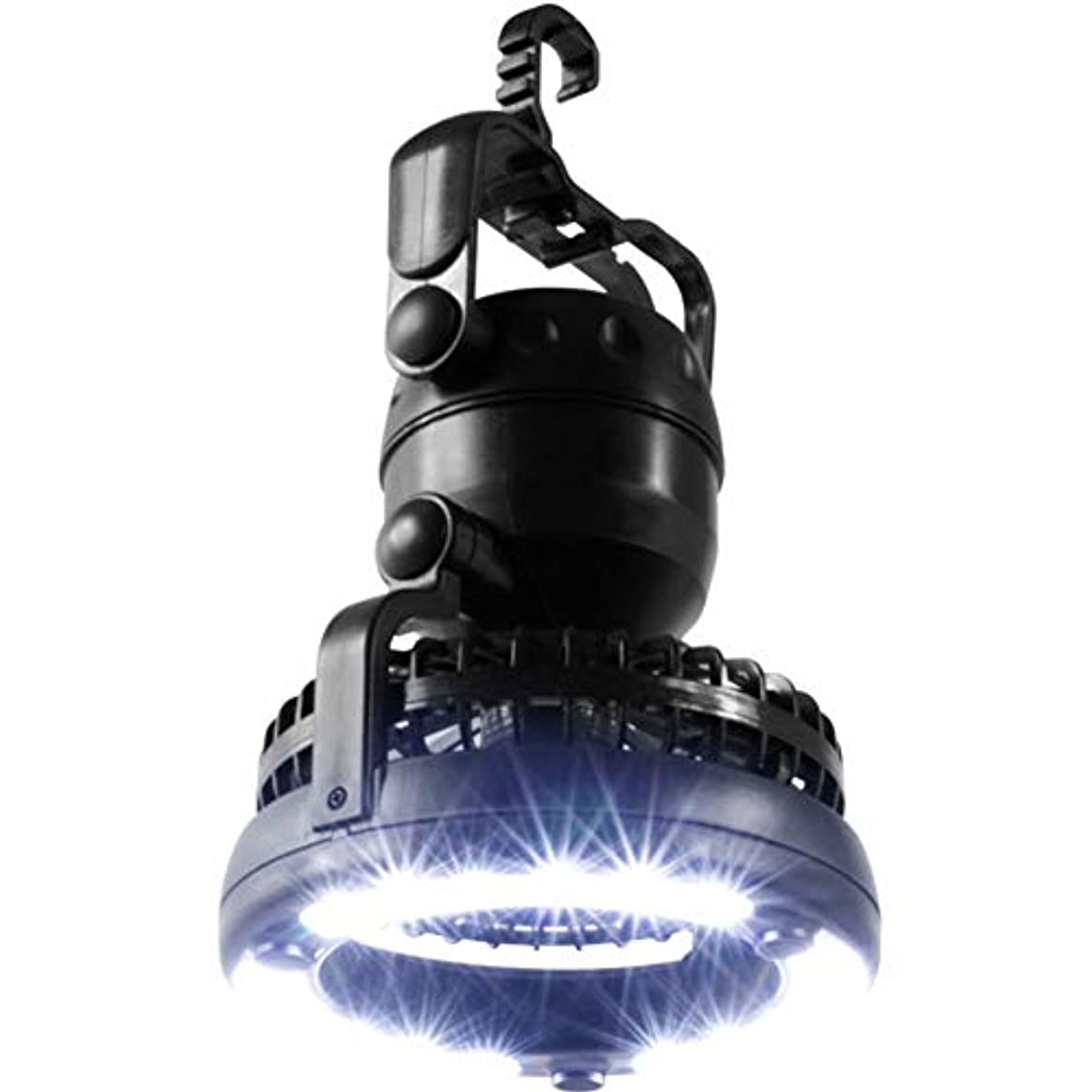 危険な普遍的なジョイントBraheart 2in1 扇風機 キャンプライト フック付き 携帯便利 18個高輝度ライト付き 扇風機付き テント照明 2WAY 風量3段階調節 キャンプ用品 登山 夜釣り アウトドア 停電応急 防災用品 単1形電池2本使用だけ(別売)