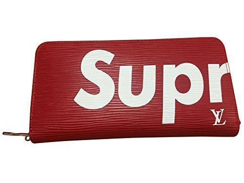 【シュプリームSupreme】 LOUIS VUITTON 財布 男女兼用 長財布 ファスナー付き (RED) [並行輸入品]