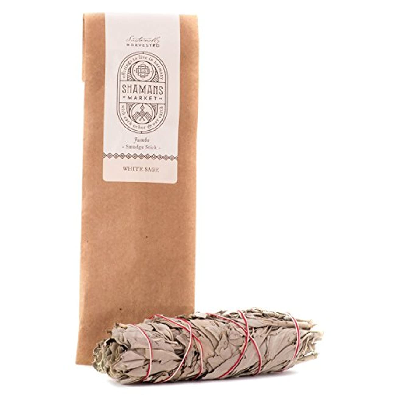 災害欠点面White Sage Jumbo Smudge Stick - 8-9 in. by Shamans Market