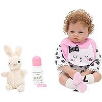 KESOTO 21インチリボーンベビードール 新生児人形衣類 哺乳瓶 磁気おしゃぶり アクセサリー