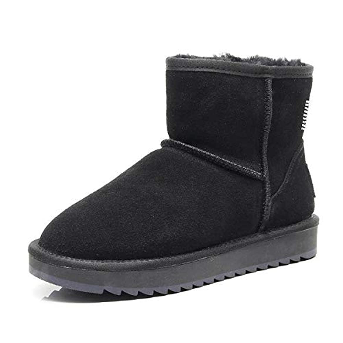 遠近法認証遠近法女性のブーツフラットヒールファッションラインストーンスノーブーツ2018冬暖かい非スリップアンクルブーツ