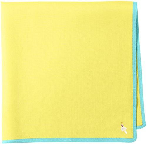 [クチデザイン] メッセージハンカチ handkerchief HAPPY (イエロー×エメラルドグリーン) FREE