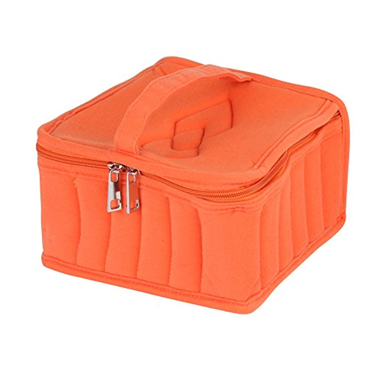 飼いならす熱帯の注文2色5スロット精油ケース旅行オーガナイザー用5ミリリットル/ 10ミリリットル/ 15ミリリットルボトル収納バッグ(オレンジ)