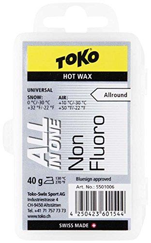 TOKO(トコ) スノーボード スキー用 ワックス ホットワックス NF 純パラフィン オールインワンワックス 40g ...